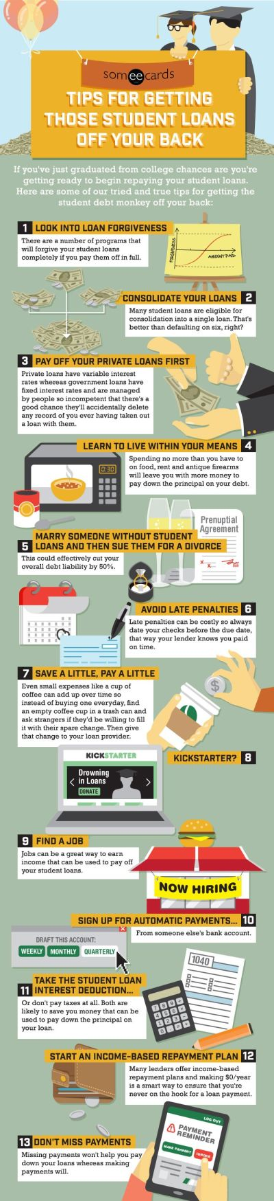 Someecards Tips For Getting Those Student Loans Off Your Back | me | Pinterest | Student loans ...