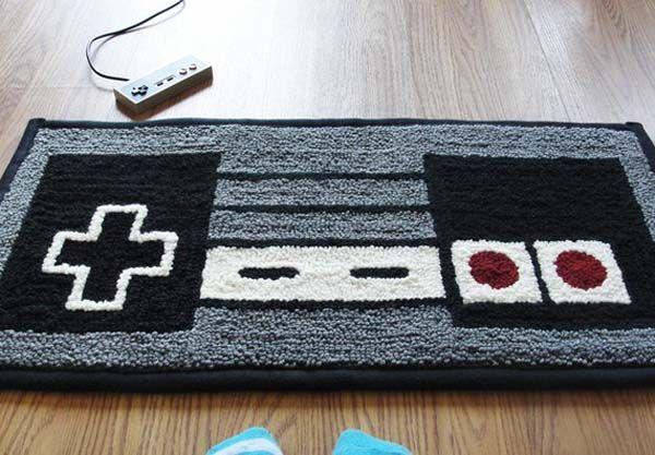 Nintendo NES controller DIY rug