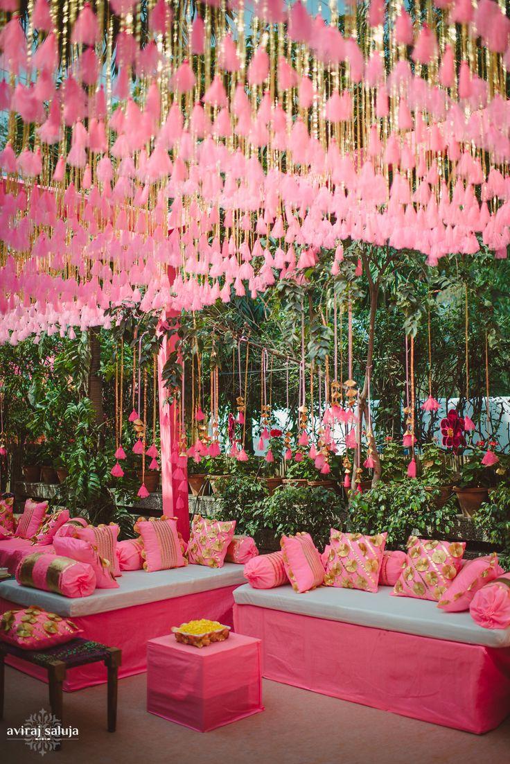 desi wedding decor wedding decor Chic Wedding in Delhi with Exquisite Decor