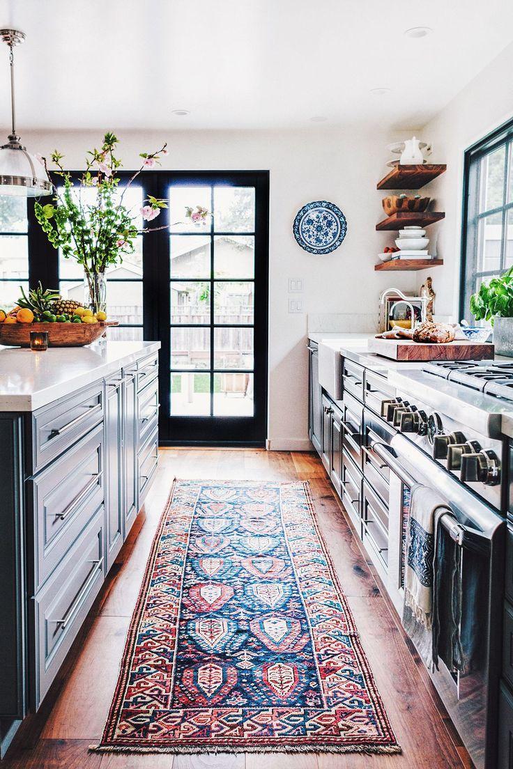 kitchen rug kitchen floor mats Black kitchen black windows rug light