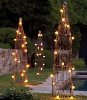 lights for the backyard trellis lighting i