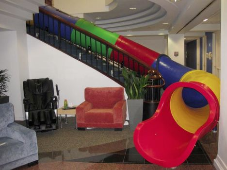 slides help make architecture active and fun entertaining funny google office