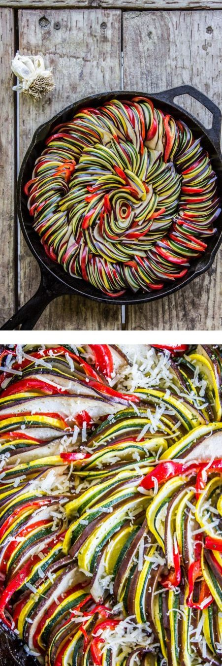 Roasted Garlic Ratatouille by thefoodcharlatan #Ratatouille #Garlic: