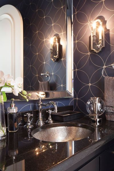 25+ best ideas about Silver bathroom on Pinterest | Luxurious bathrooms, Next home wallpaper and ...
