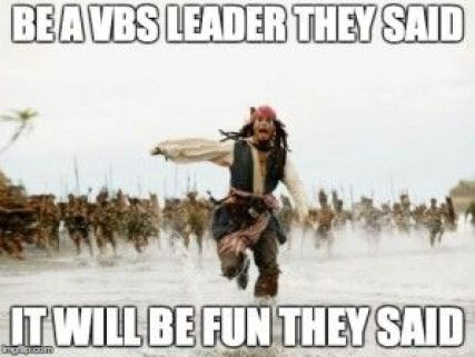 hahaha, I love helping with VBS, but this is still funny!: