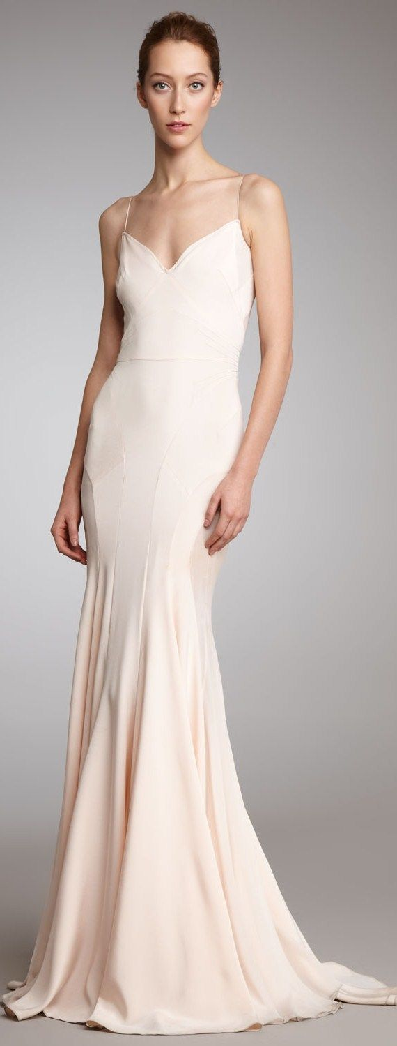 wedding dresses zac posen wedding dresses ZAC POSEN Pink Slip Gown would make a Stunning wedding dress in white ivory