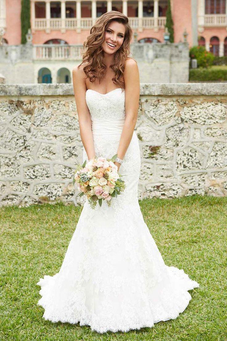 brautkleider strapless lace wedding dress best images about Brautkleider on Pinterest Stella york Lace and Satin