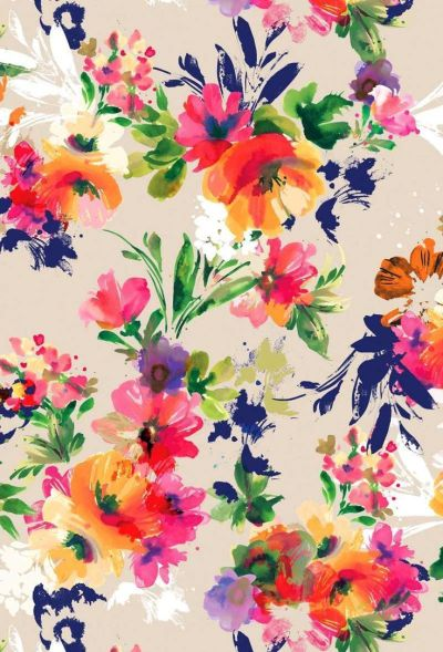 Bright floral print. #colour #style   iPhone wallpapers   Pinterest   Style, Inspiration and Colour