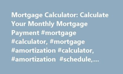 Best 20+ Amortization Schedule ideas on Pinterest | Mortgage amortization calculator, Mortgage ...