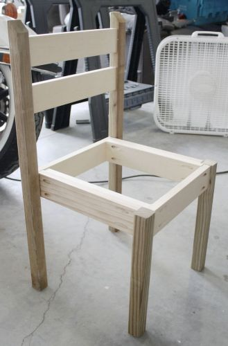 kitchen chairs grey kitchen chairs Building table and chair set out of wood scraps