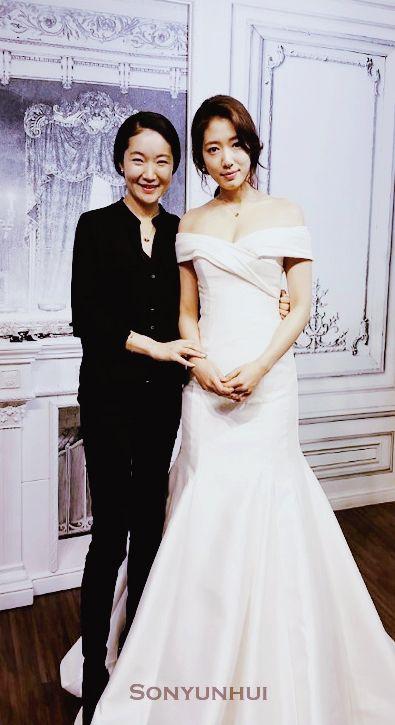 Park Shin Hye wearing wedding dress from drama Pinocchio ...