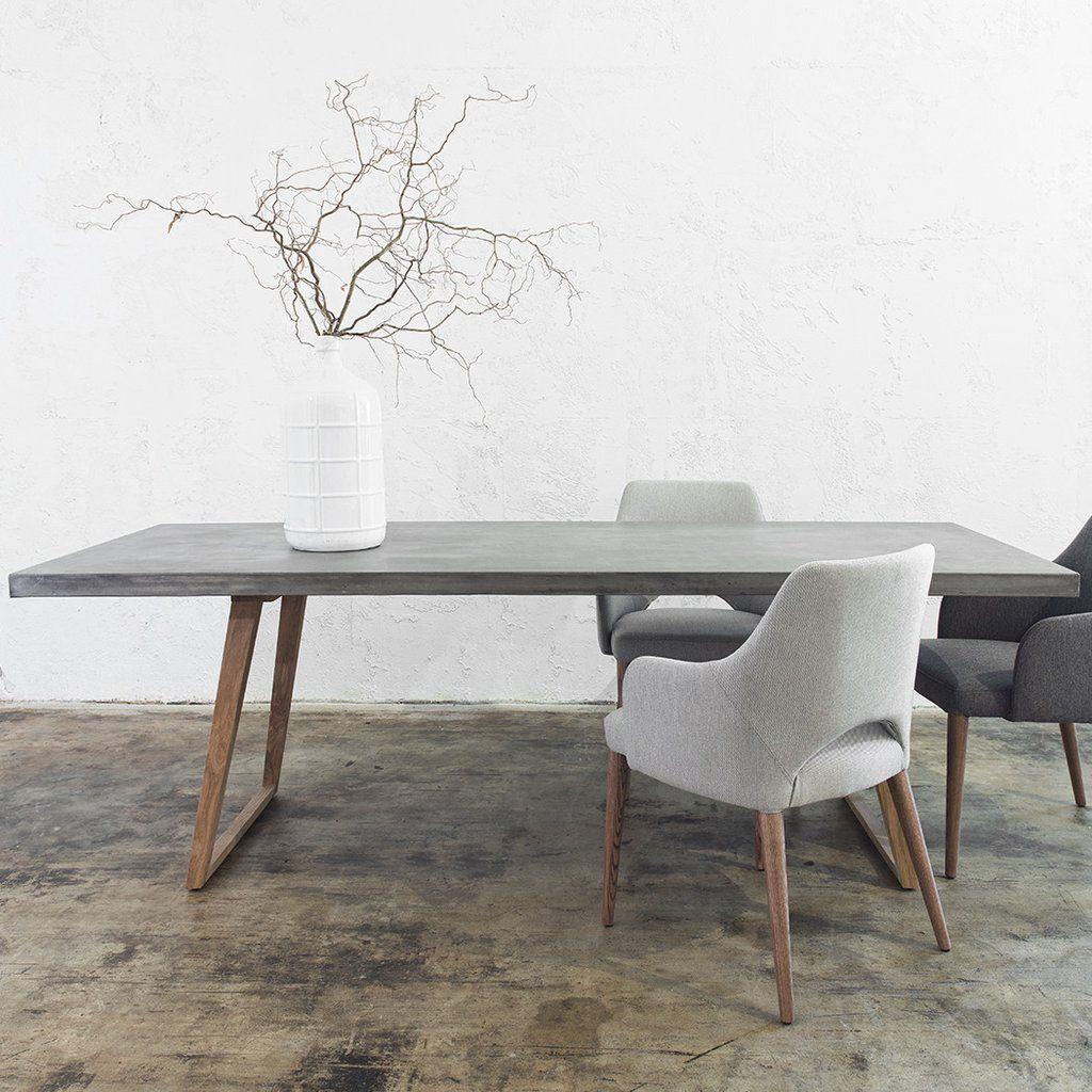 concrete kitchen table CONCRETE DINING TABLE GREY
