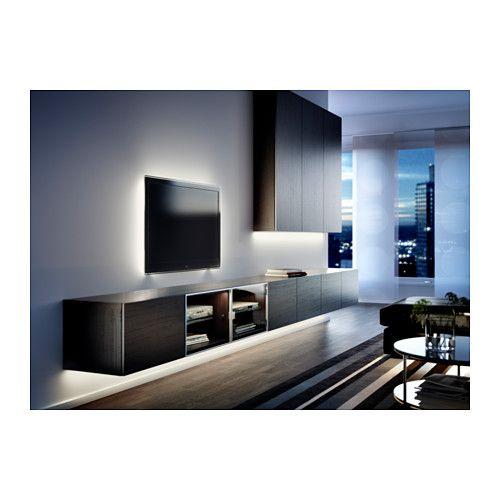 Ikea Besta Lighting Lighting Inside Bookshelves And Under Kitchen