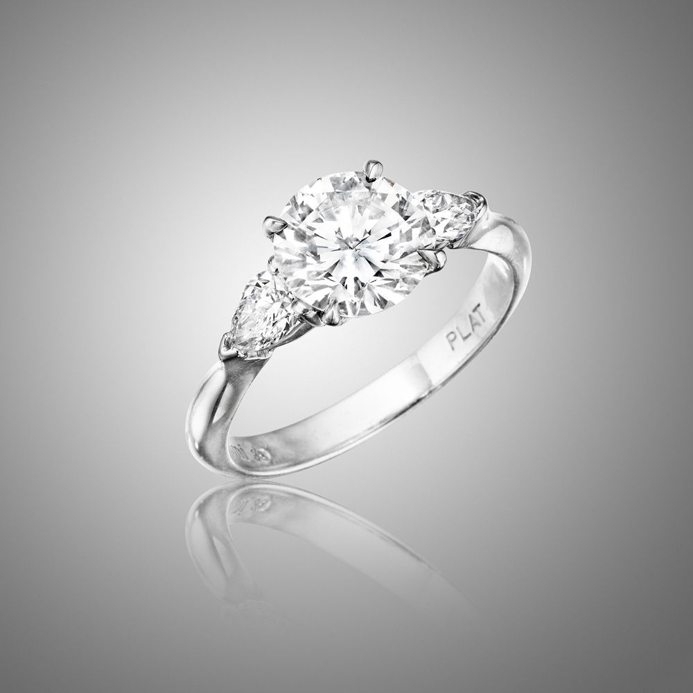 traditional wedding rings Awesome MIMI SO Bridal Engagement Rings Traditional Three Stone Engagement Ring picture