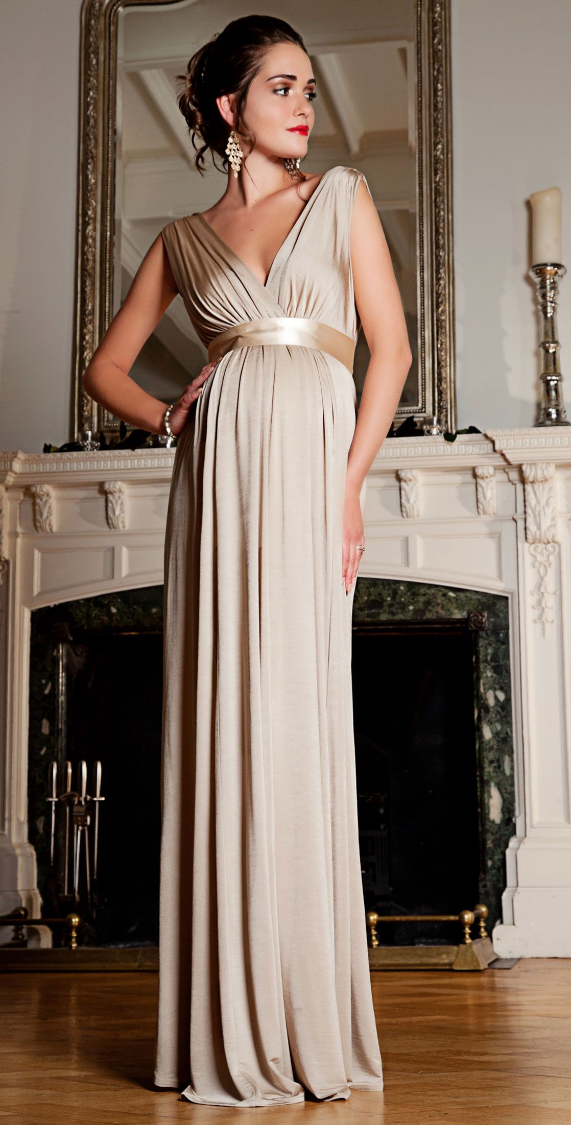 maternity dresses for wedding Anastasia Gown Long