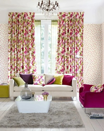 Matching Wallpaper And Curtains For Living Room - Homebase ...