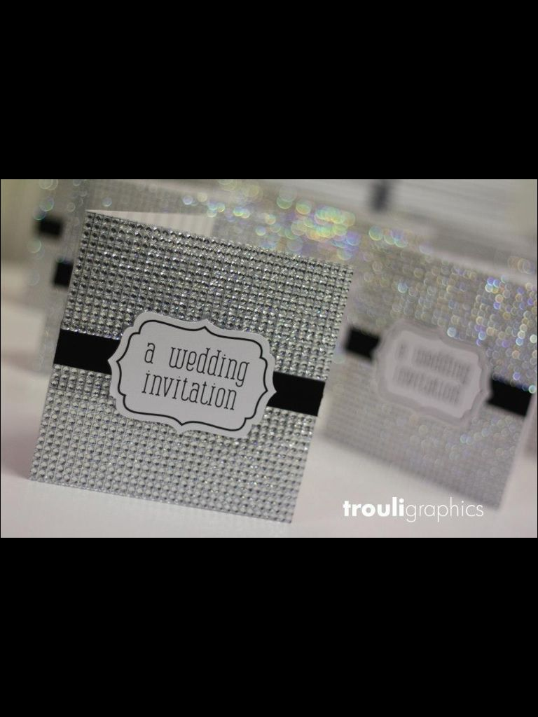 bling wedding invitations Very bling wedding invitation by Trouli graphics