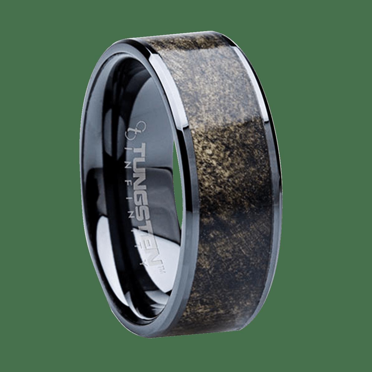 mens wedding rings titanium 8 mm Unique Mens Wedding Bands Titanium Buckeye Wood BM