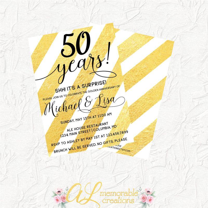 Large Of 50th Anniversary Invitations