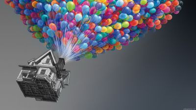 Colorful Up Home With Balloon Wallpaper #3554 Wallpaper ...