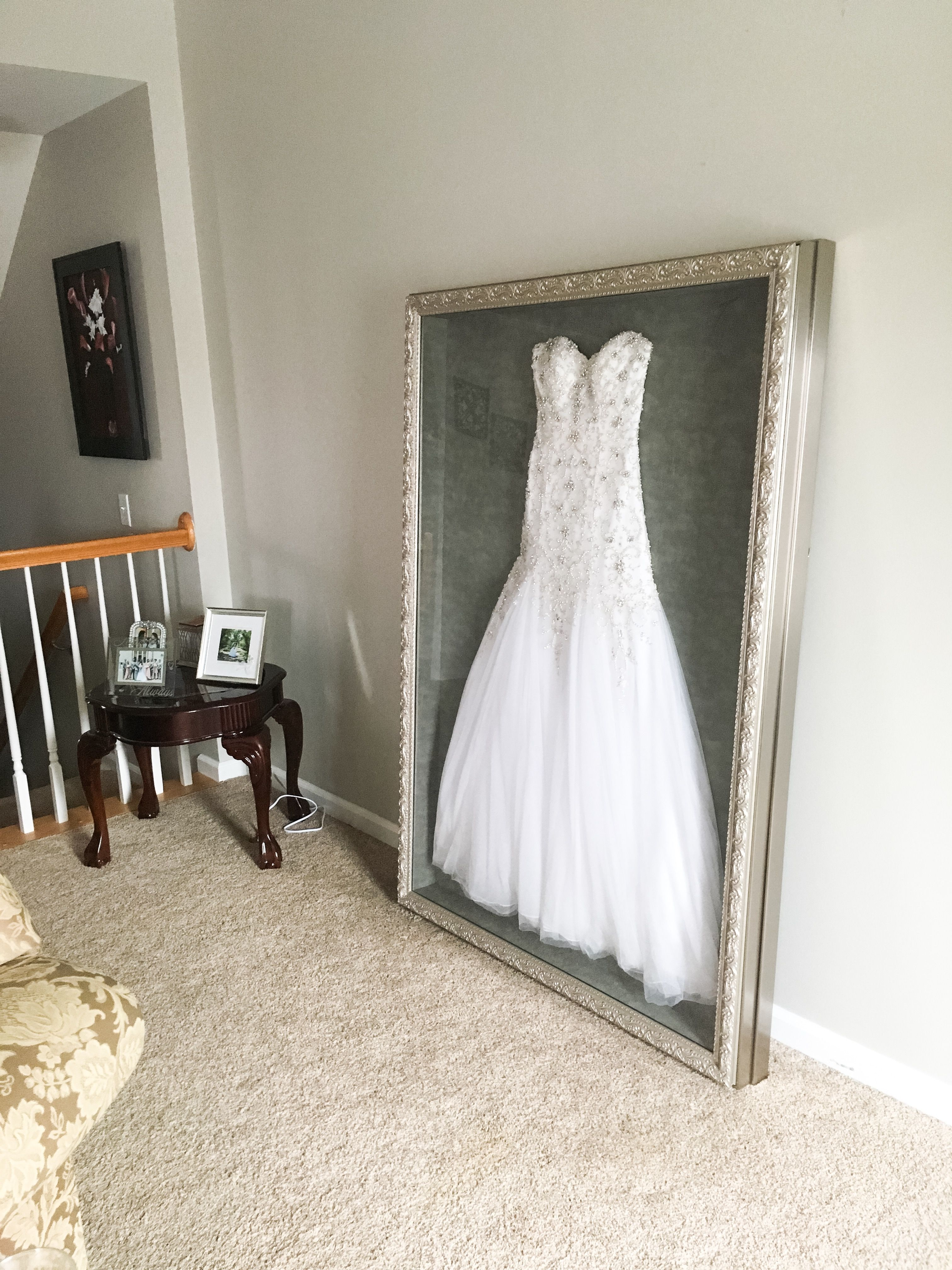 wedding dress storage Instead of putting my wedding dress in a box hidden in the attic or possibly selling