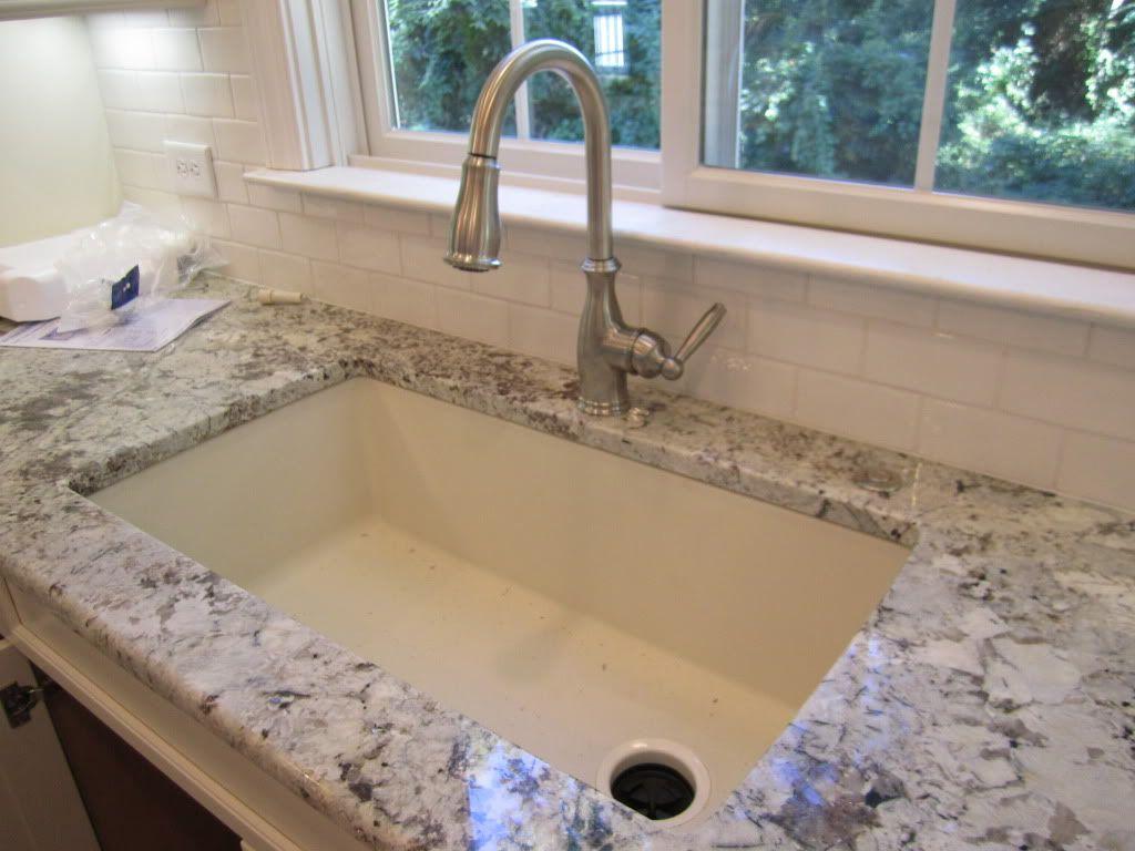 blanco kitchen sinks Sink Blanco Silgranit in Biscuit with Offset drain Diamond Single Basin