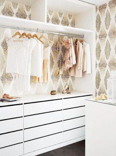 Closet Wallpaper on Pinterest | Vinyl Flooring Bathroom, Fornasetti Wallpaper and Ikea Bookshelf ...