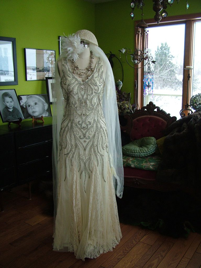 wedding dresses Beaded deco Vines s style Wedding Dress verytreschic com retrovintageweddings on etsy verytrescchicweddings com