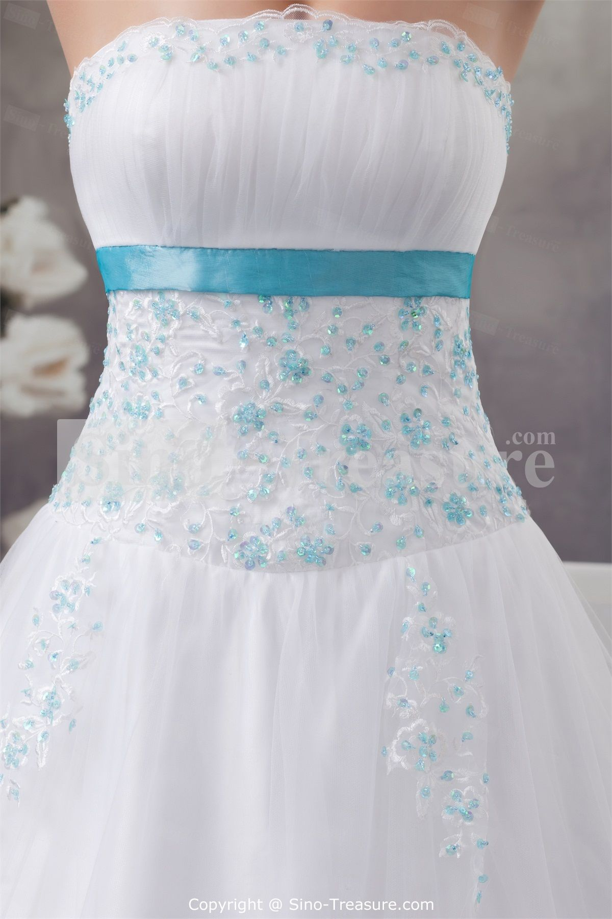 wedding dresses with blue bling wedding gown Wedding Dresses Ball Gown With Bling Strapless