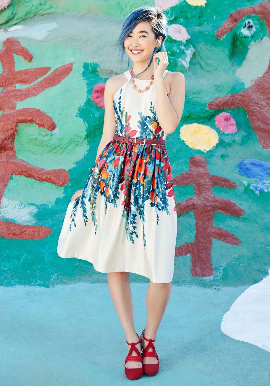 modcloth wedding dresses Floral Dress in Flower Box ModCloth