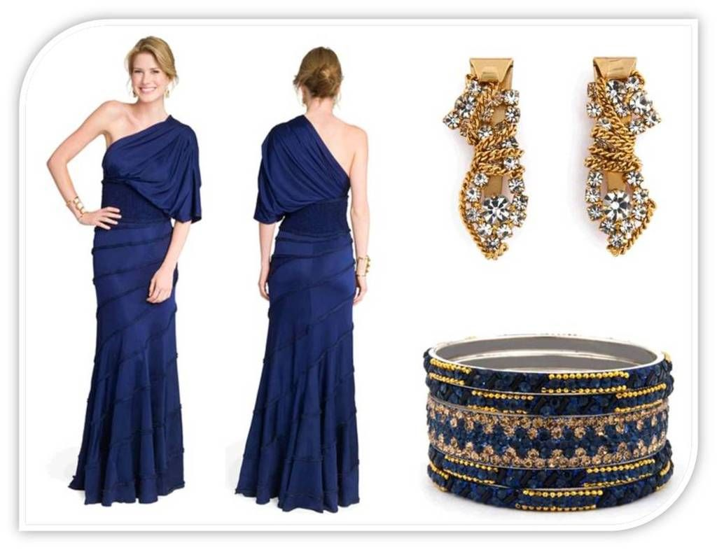 wedding dress accessories Gold What Color Jewelry Goes with Navy Blue Dresses EverAfterGuide