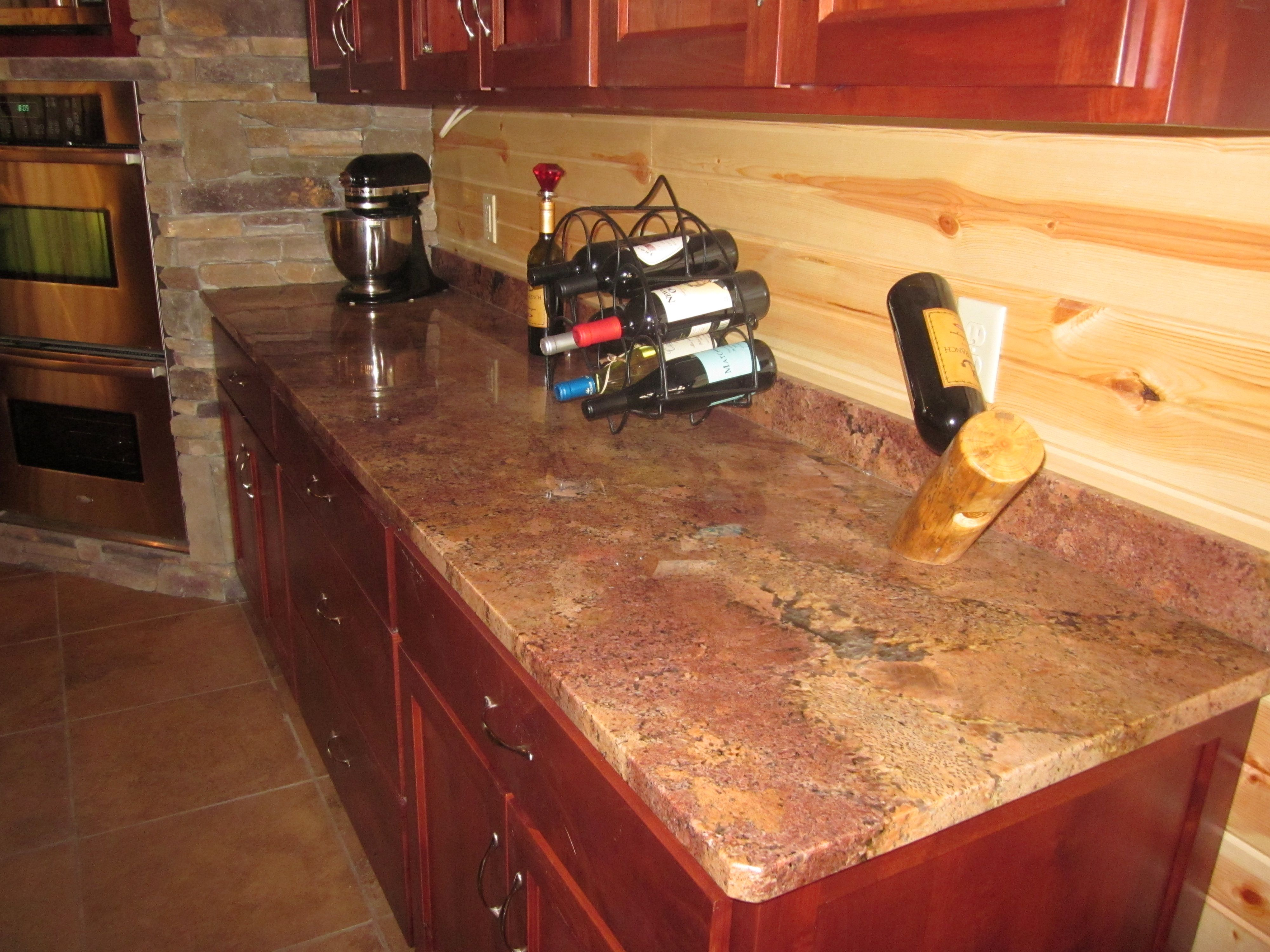 vibrant red granite kitchen countertops granite countertops kitchen Beautiful Bordeaux red granite countertop