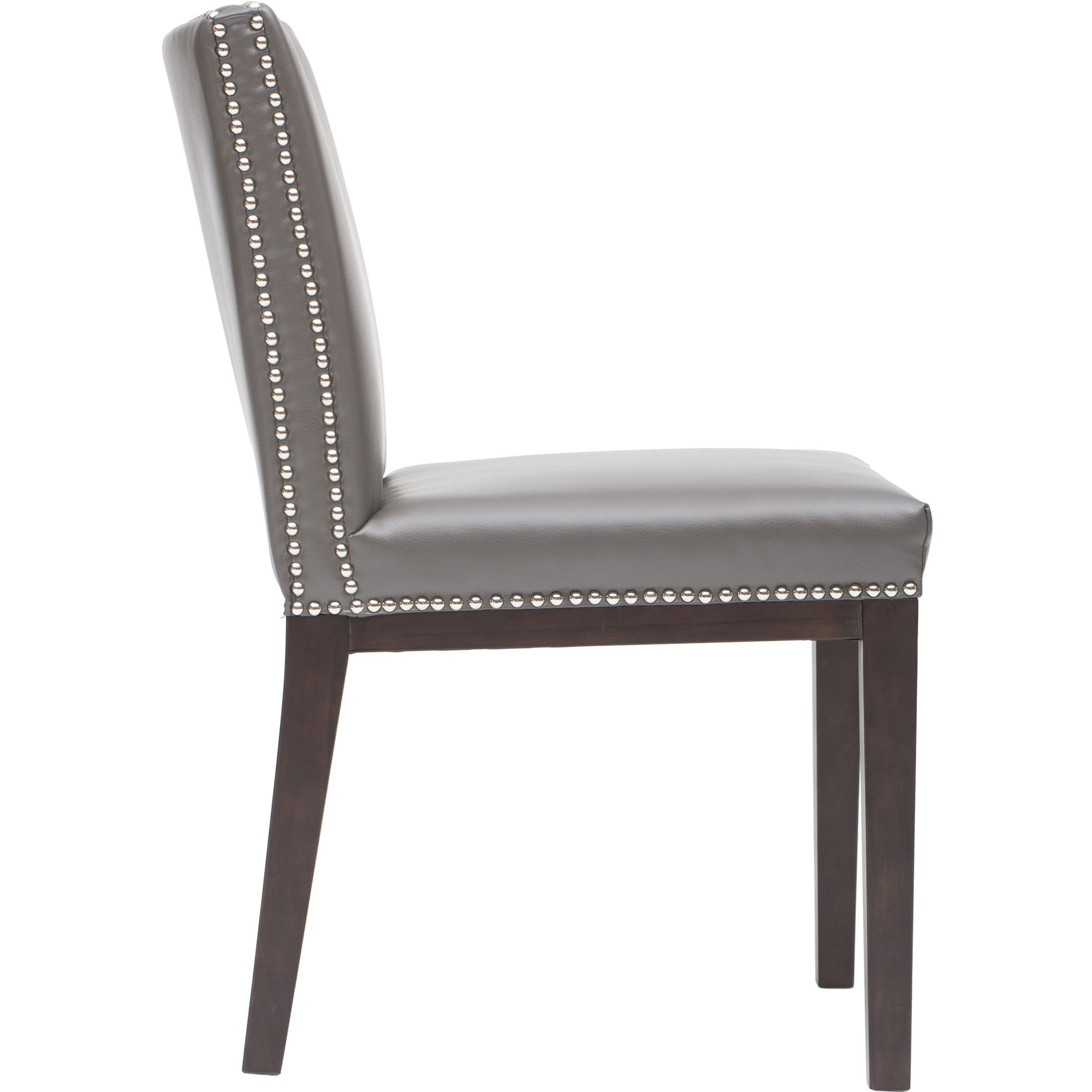 upholstered kitchen chairs Vintage Dining Chair Pic Of Grey Leather