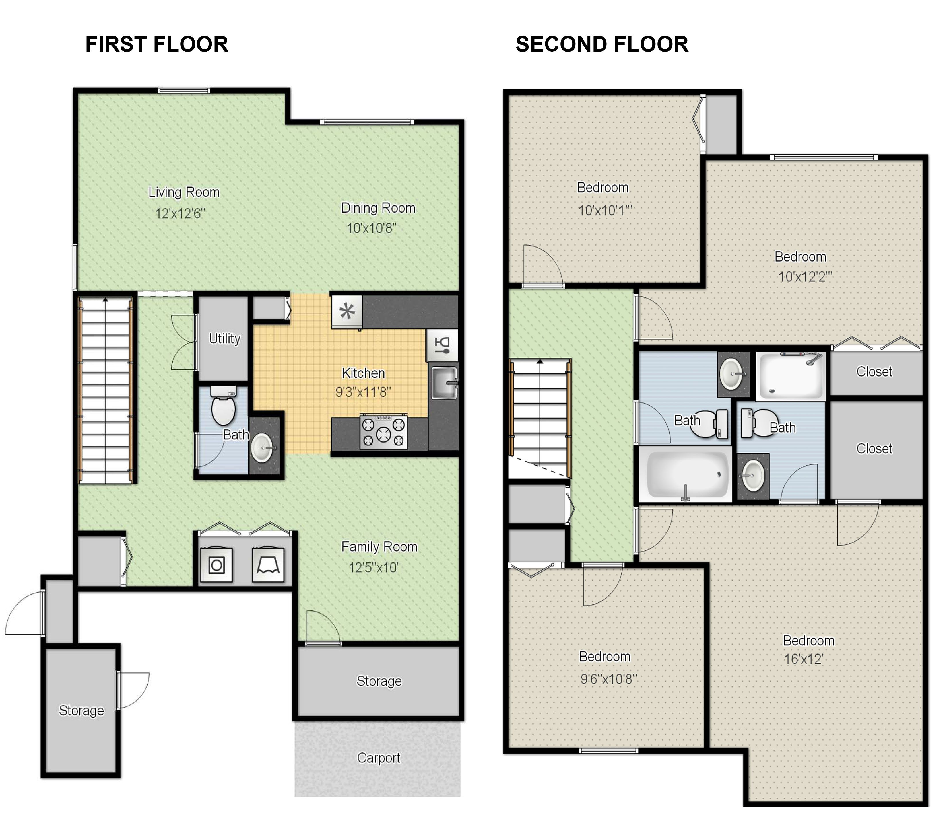 1000 Images About 2d And 3d Floor Plan Design On Pinterest Home Design Modern Homes For