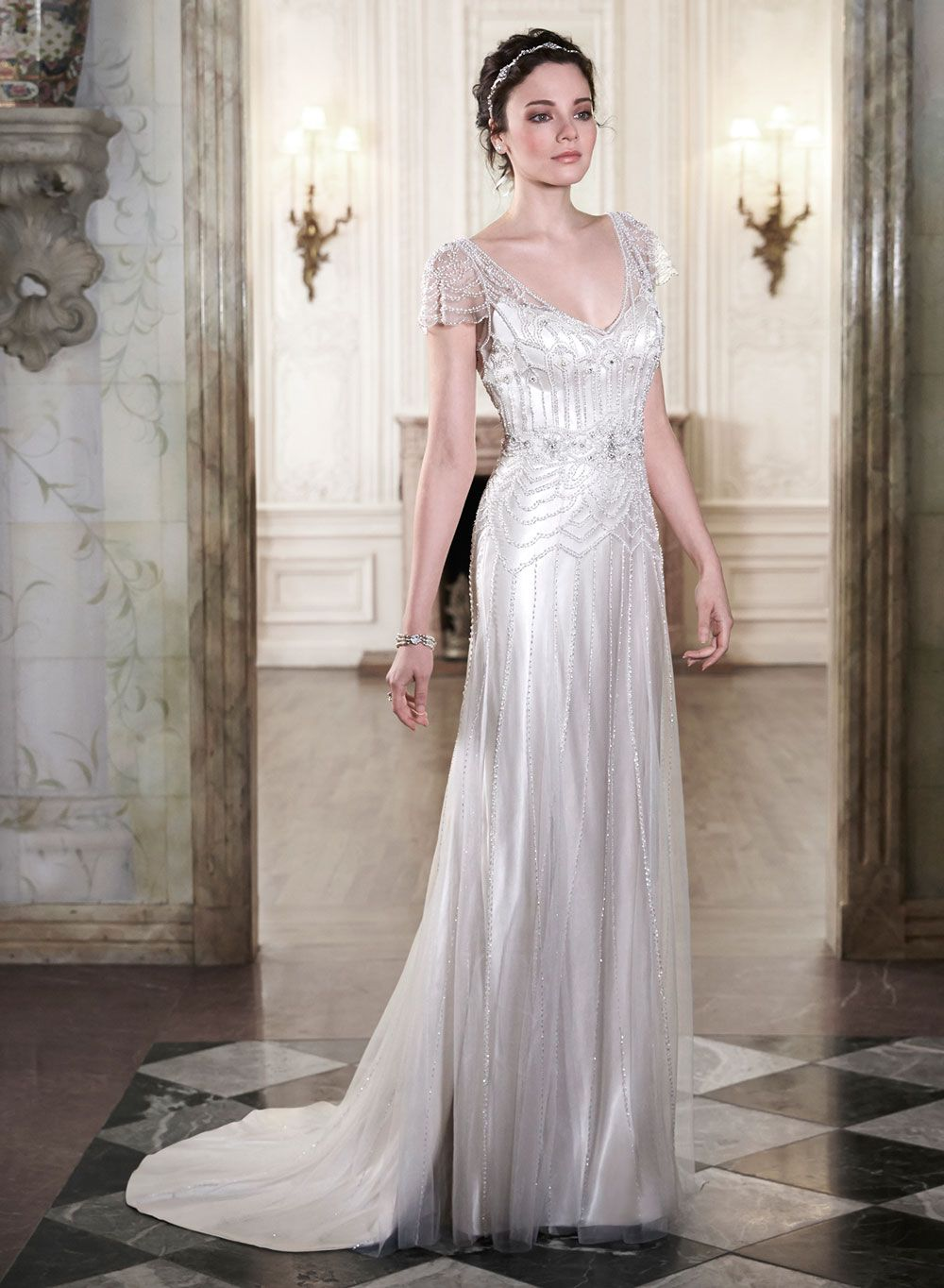 wedding dresses s Wedding Dresses Add Some Gatsby Glamour to Your Big Day