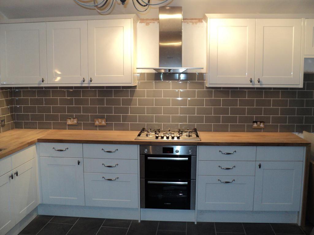 cheap kitchen flooring Grey kitchen tiles