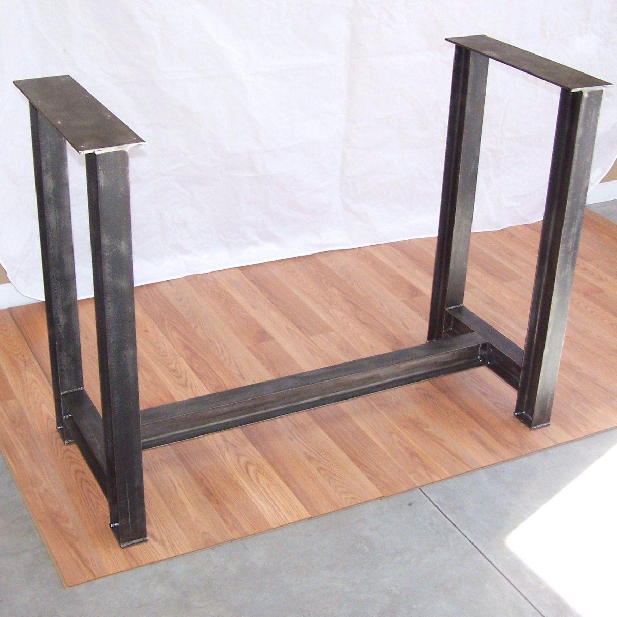 industrial kitchen table Industrial Steel I Beam Bar Base Kitchen Island Heavy Metal Iron Table Desk Legs