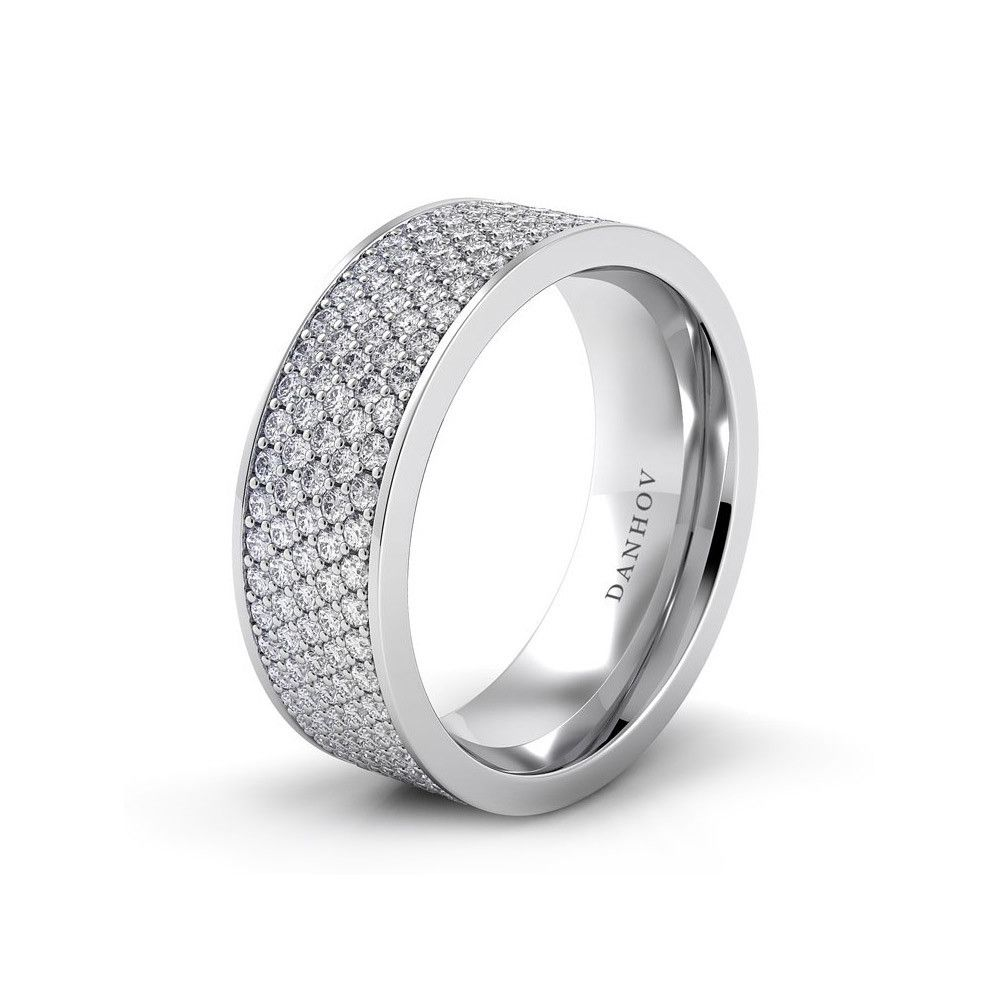 womens diamond wedding band Capri Jewelers Arizona www caprijewelersaz com Wide Pave Diamond Wedding Band Danhov