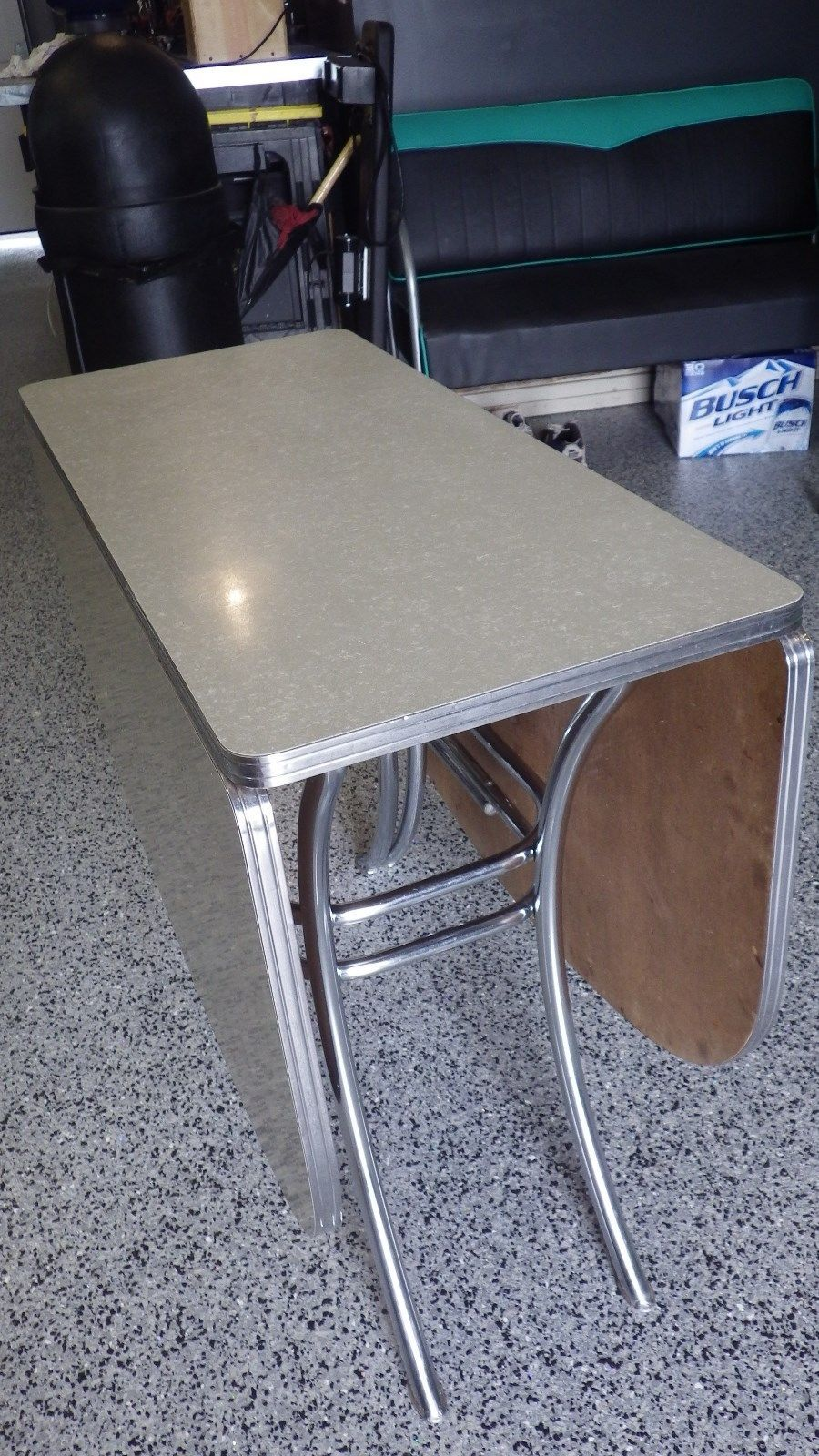 s kitchen table Vintage Lloyd Retro Gray Cracked Ice Formica Chrome Drop Leaf Kitchen Table