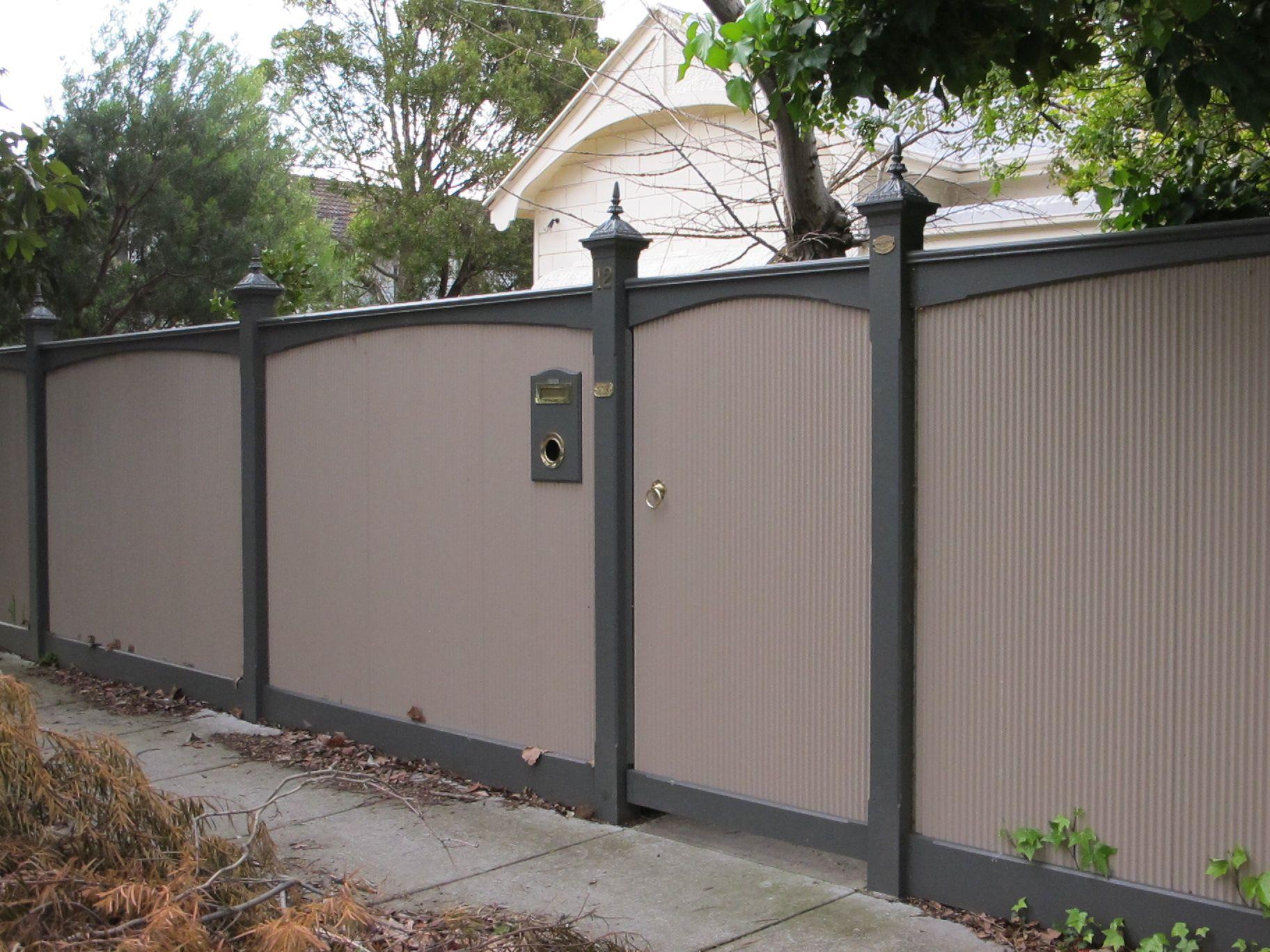 Wonderful Sheet Metal Fence Image Of Corrugated Throughout Design Inspiration
