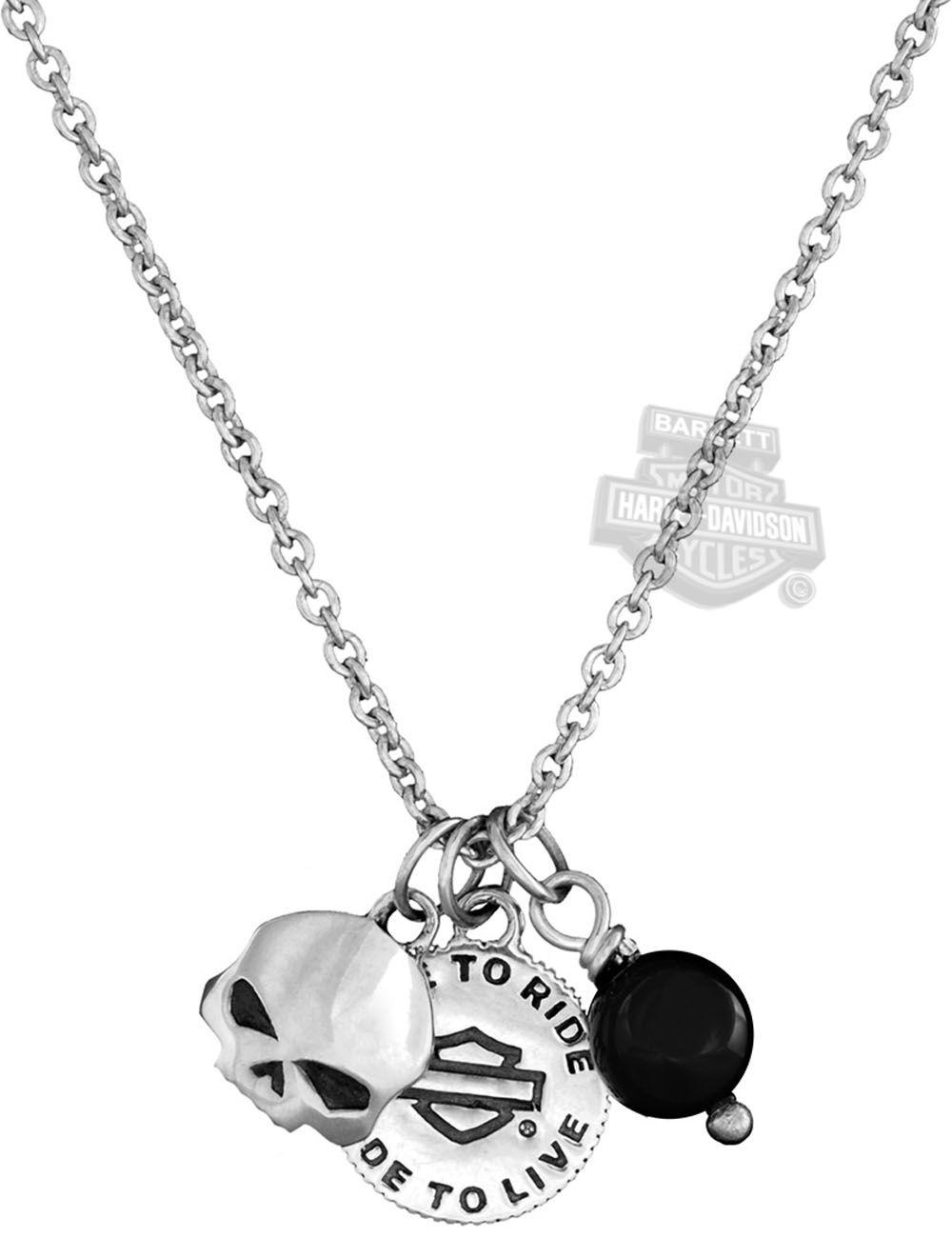 harley davidson wedding bands Harley Davidson Womens Silver Wild Child Mini Charms Necklace by Mod Jewelry Barnett Harley Davidson Biker