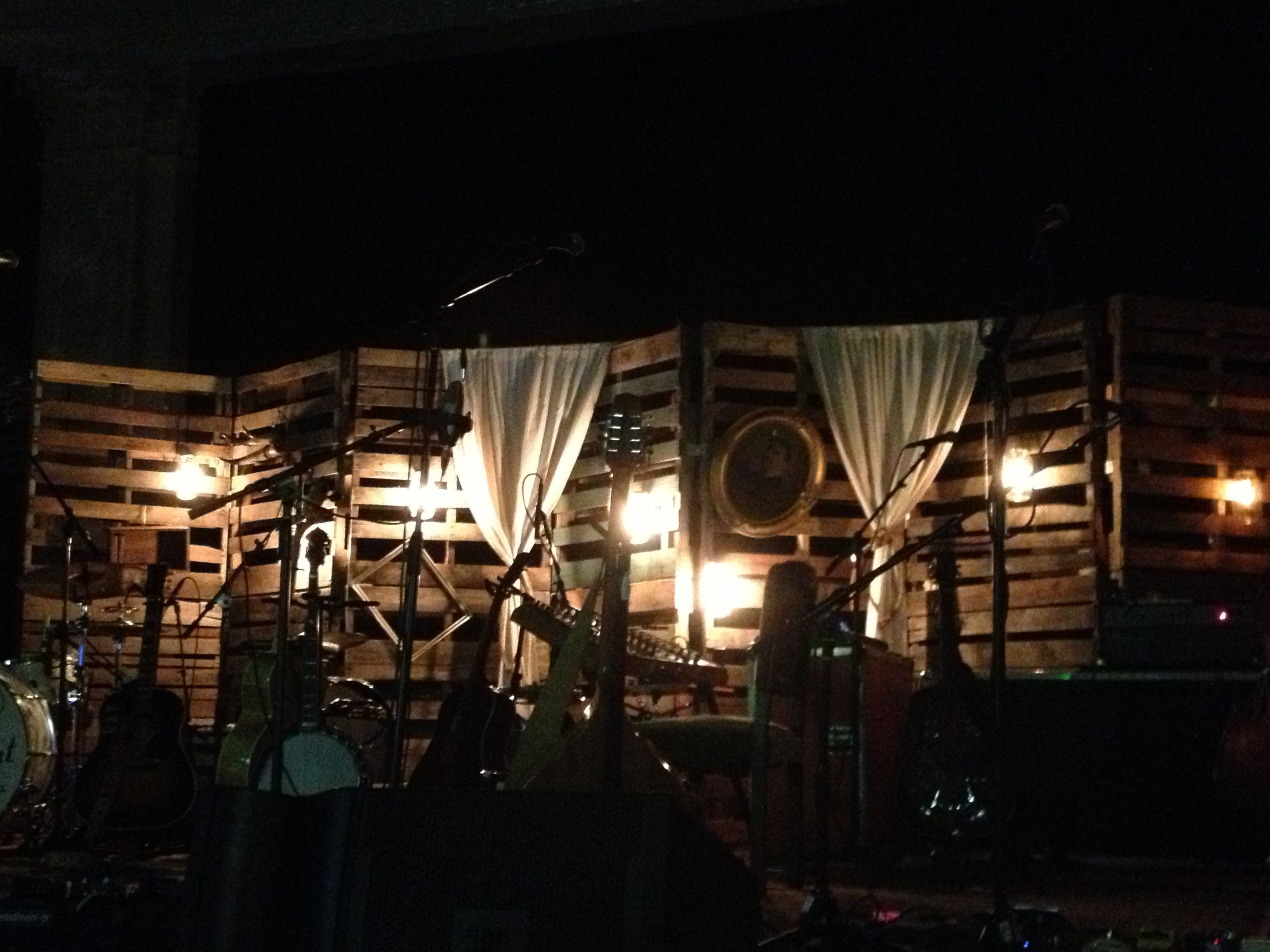add some lighting curtains and decor it is perfect for an outdoor space wedding or as here backdrop a david crowder louisville decorative adds mystique n