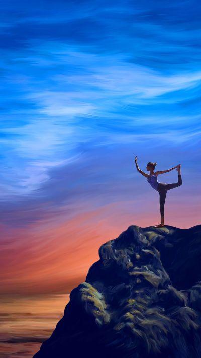 Yoga Wallpaper for Mobile Devices – Artwork by GoodVibesGallery.com | Mobile Wallpaper Art ...