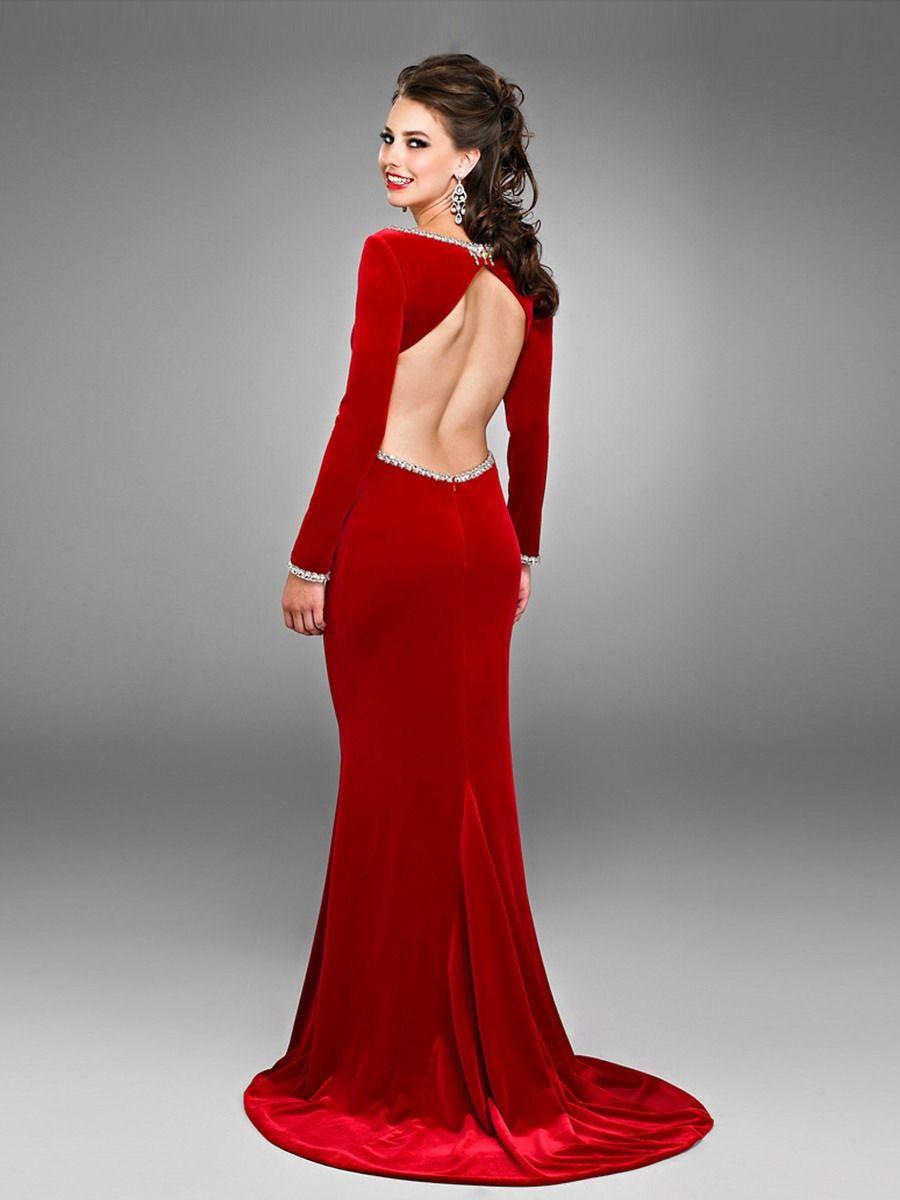 velvet wedding dress Long Sleeve Velvet Dress Zipper Velvet Floor Length Scoop Neck Scoop Neck Long Sleeved