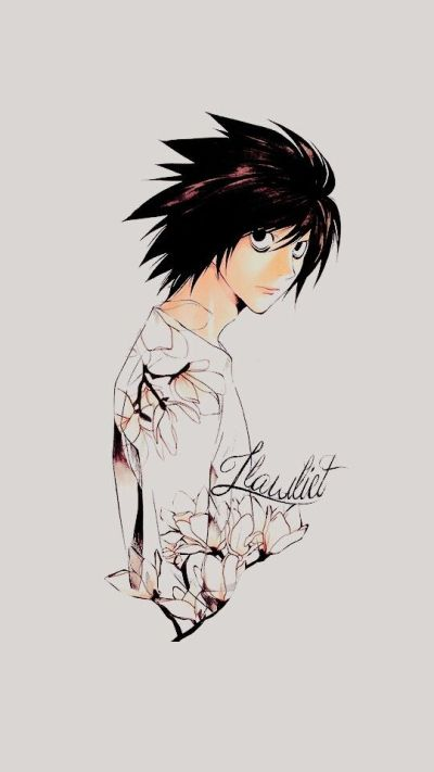 L wallpapers by kurooa on Tumblr | Death Note | Pinterest | Death note, Wallpaper and Death