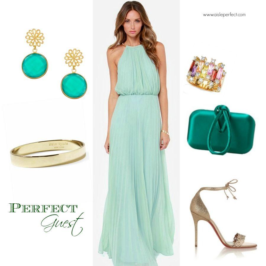 summer dresses for weddings Mint maxi dresses Summer Wedding