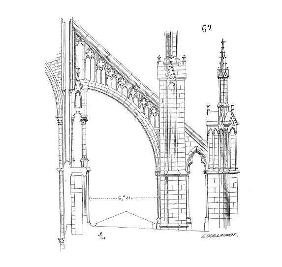Beautiful Architecture Drawing Png Arcboutantcathedraleamiens Cathdrale Notredame Throughout Decorating