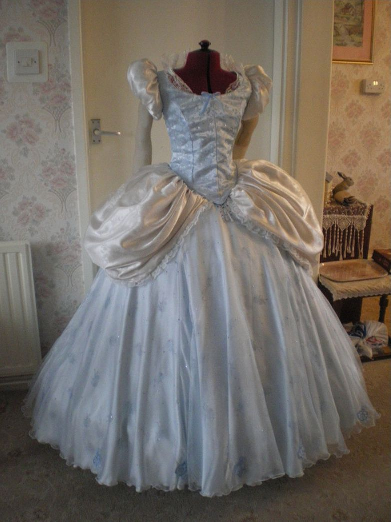 cinderella wedding dress costume Cinderella ball gown Disney dress tutorials for not so grownups Basically a link round up wonderful