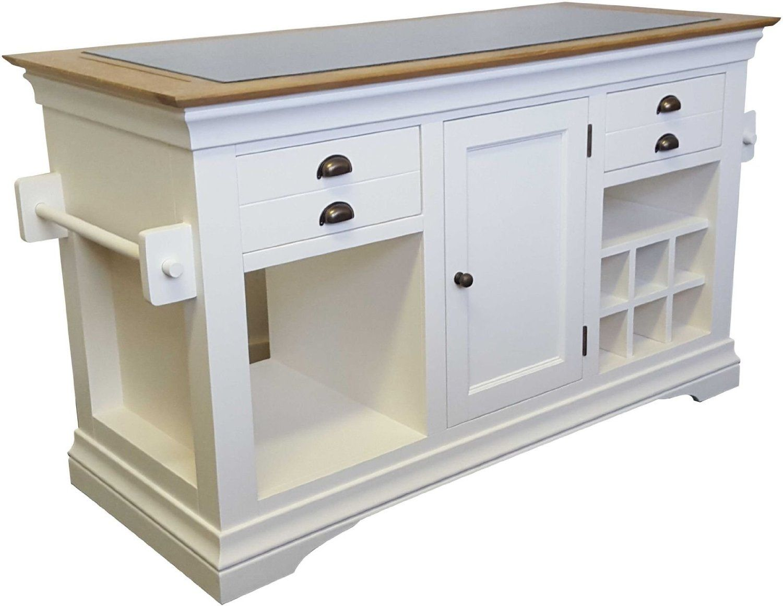 granite kitchen island Dijon cream painted furniture large granite top kitchen island unit worktop Amazon co
