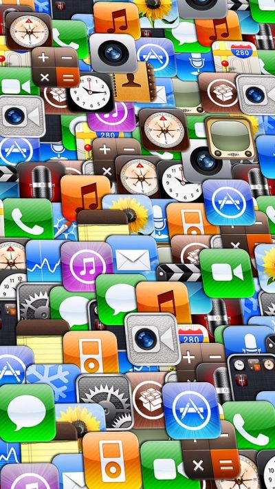 SLANTED collage of apple iOS app icons   iPhone Backgrounds   Pinterest   Ios app icon, iOS App ...